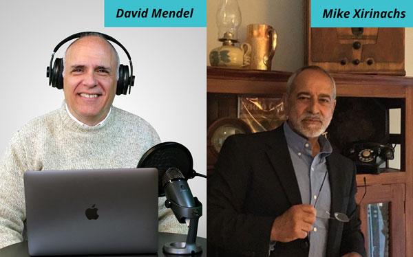 Veteran broadcast journalists David Mendel and Mike Xirinachs